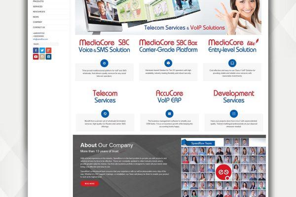 Speedflow Communications Уебсайт - Бизнес решения - скрийншот 1