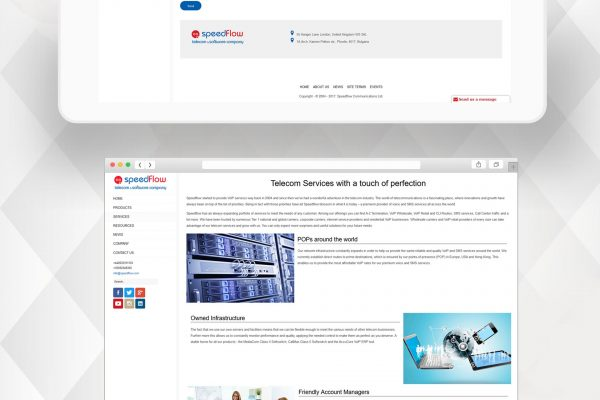 Speedflow Communications Website by Speedflow Bulgaria - screenshot 3