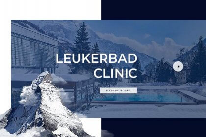 Leukerbad Clinic website - уебсайт