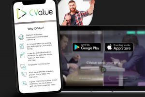 CValue website and mobile app portfolio image