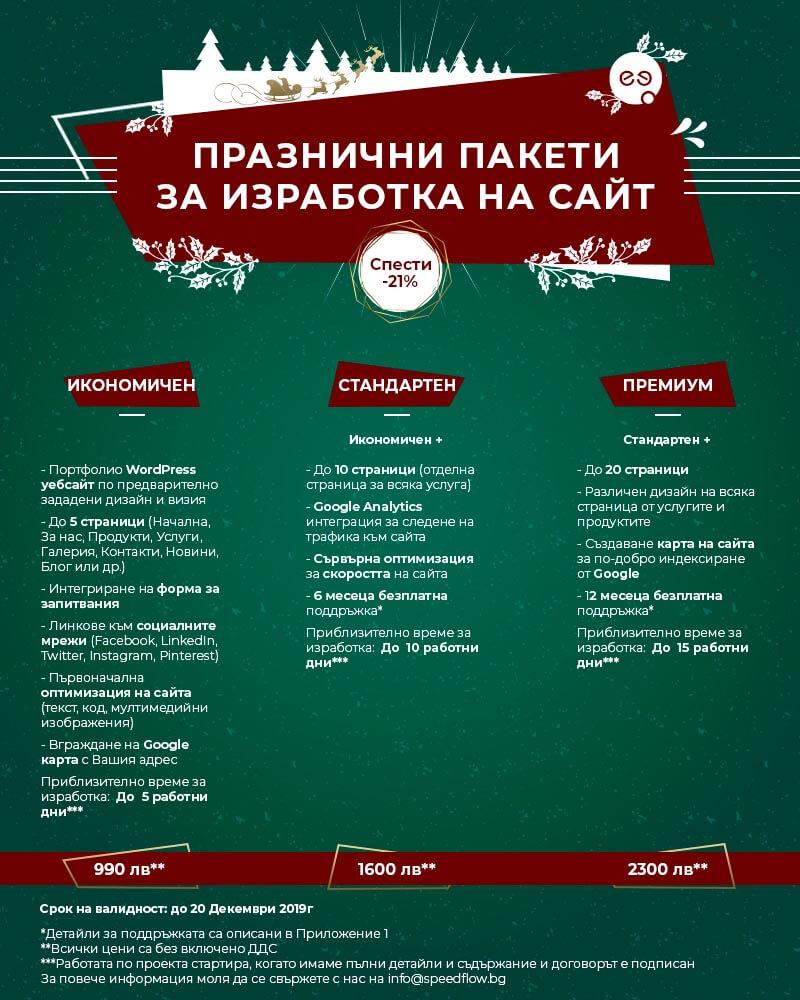 Коледни оферти за изработка на уебсайт